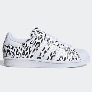 Adidas Superstar Leopard Print Women's Sneakers